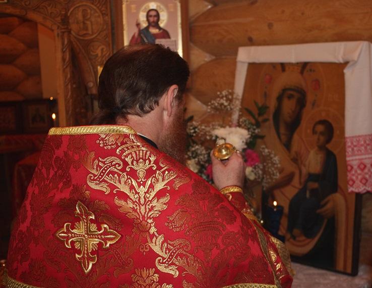 Молебен Иверской иконе Божьей Матери в часовне